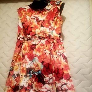 Liz Clairborne Orange Flower Dress